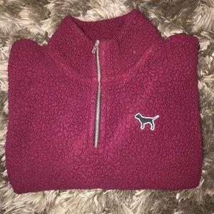 Maroon PINK quarter zip pullover